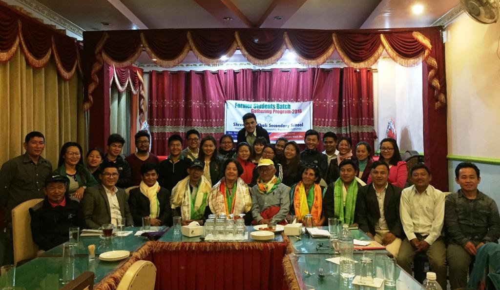 Association anciens élèves de Rapcha, Katmandou mars 2018