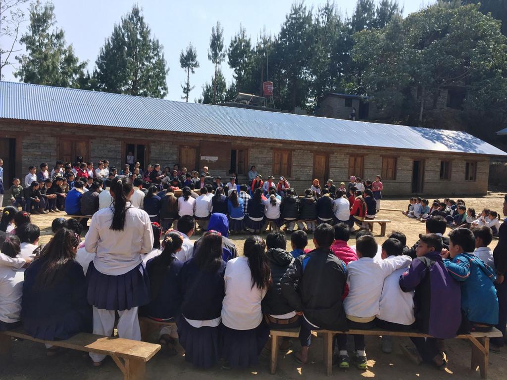 Fête de fin d'année scolaire, Basa Rapcha mars 2018