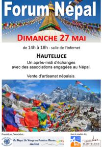Forum NEPAL à Hauteluce (Savoie), mai 2018