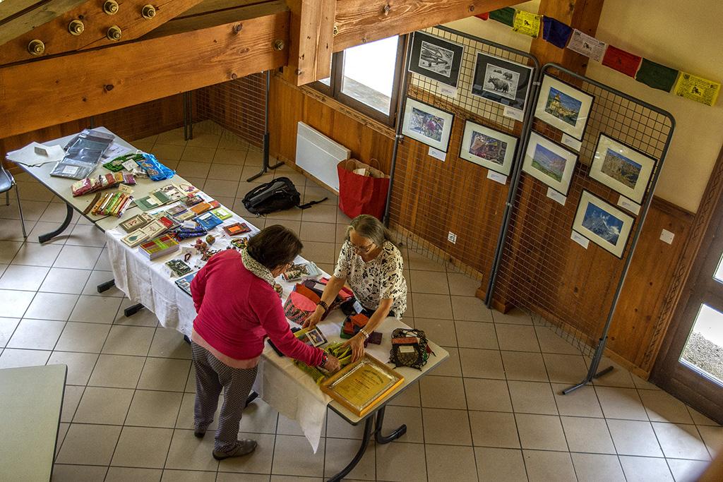 AG 2018, Hauteluce (Savoie) , exposition de photos et d'objets népalais