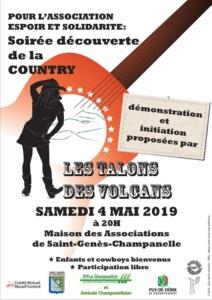 Espoir et Solidarité, soirée Country, mai 2019