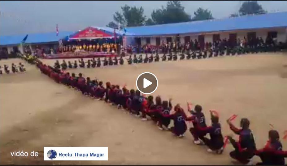 Jubilé d'Or, école secondaire de Basa. Vidéo de Reetu Thapa Magar