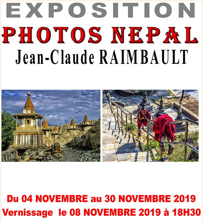 Exposition photos Népal de Jean-Claude Raimbault - 2019