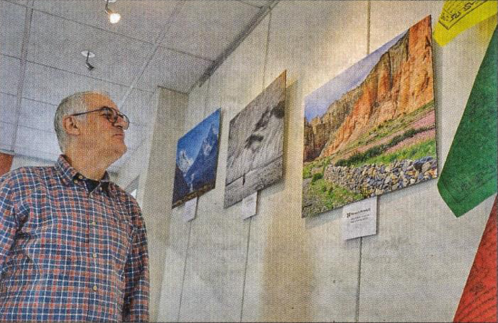 Exposition de Jean Claude Raimbault au centre mutualiste de Thiers. (source La Gazette 14 novembre 2019)