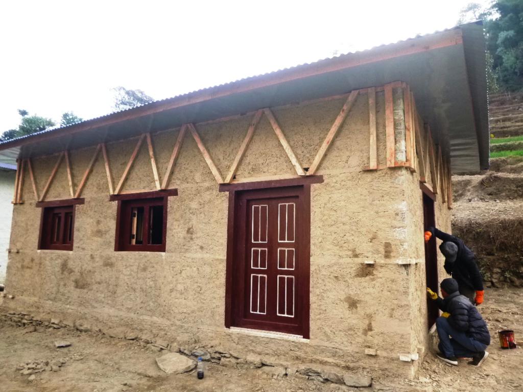 La maison de la famille Ramesh Rai.